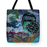 Butterfly at Night - Tote Bag