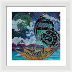 Butterfly at Night - Framed Print