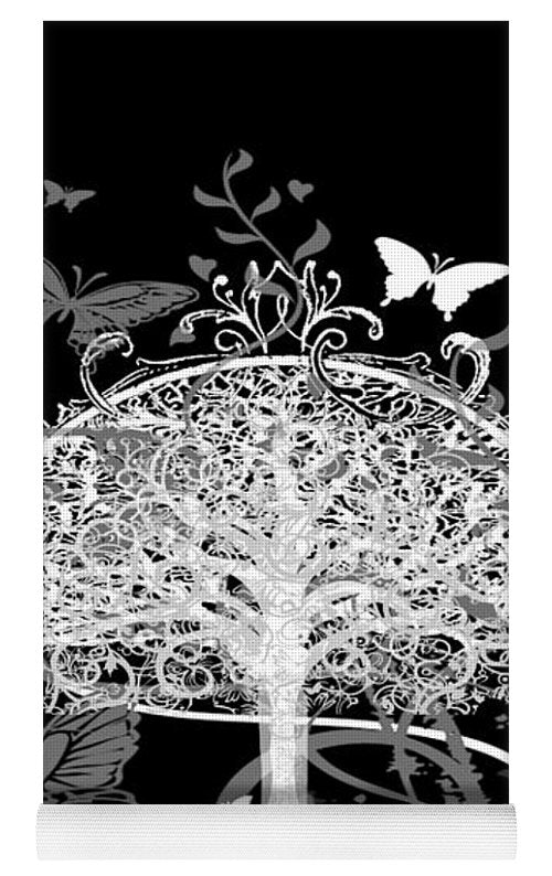 Butterfly Tree at Night - Yoga Mat