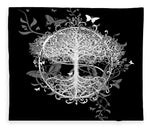 Butterfly Tree at Night - Blanket