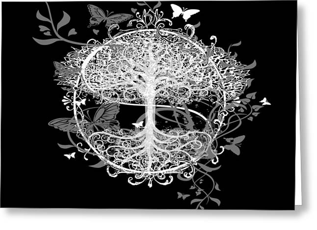 Butterfly Tree at Night - Greeting Card