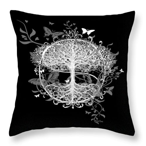 Butterfly Tree at Night - Throw Pillow