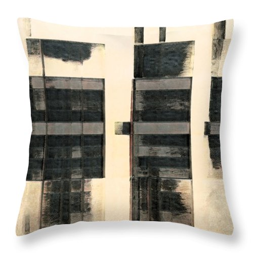 City Scapes Abstract - Throw Pillow