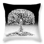 Coral Sea Tree of Life - Throw Pillow