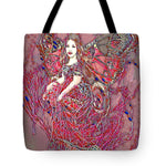 Crystal Rose Butterfly - Tote Bag