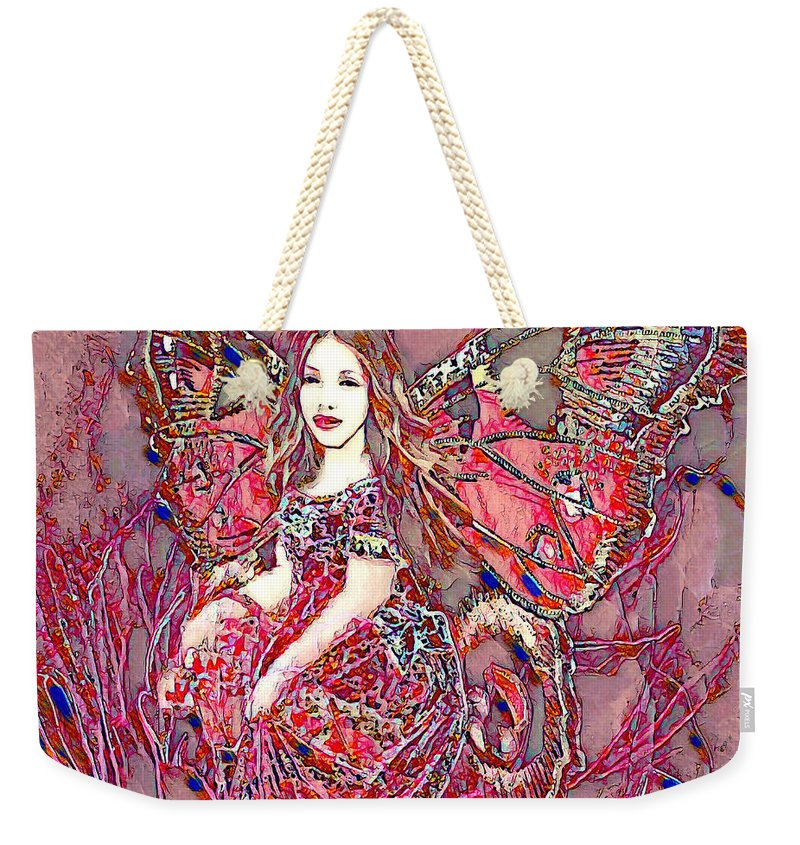 Crystal Rose Butterfly - Weekender Tote Bag