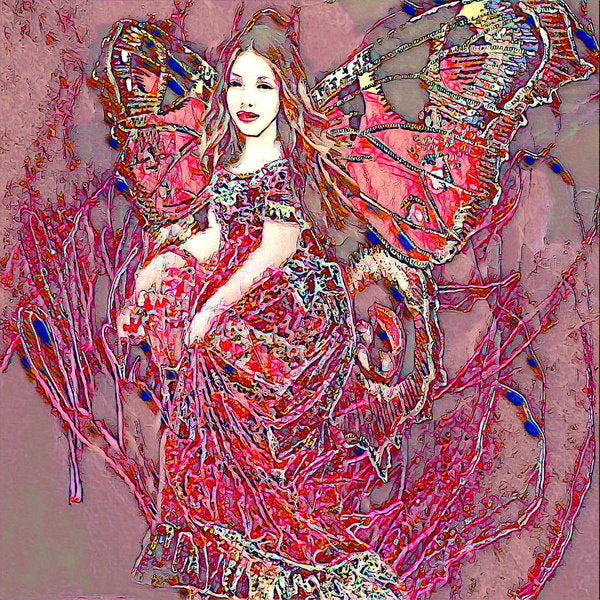 Crystal Rose Butterfly - Art Print
