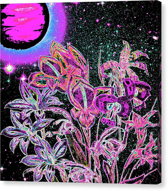Dance of the Midnight Flowers - Canvas Print