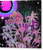 Dance of the Midnight Flowers - Acrylic Print