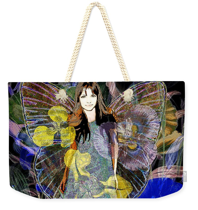 Flower Garden Angel - Weekender Tote Bag