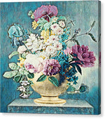 Flowers in a Gold Vase - Canvas Print