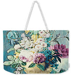 Flowers in a Gold Vase - Weekender Tote Bag
