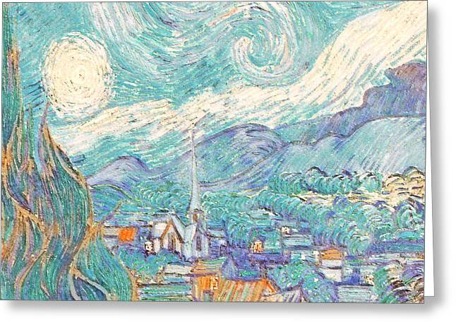 From Starry Night to Daytime - Greeting Card