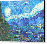 From Starry Night to Mornings Light - Canvas Print