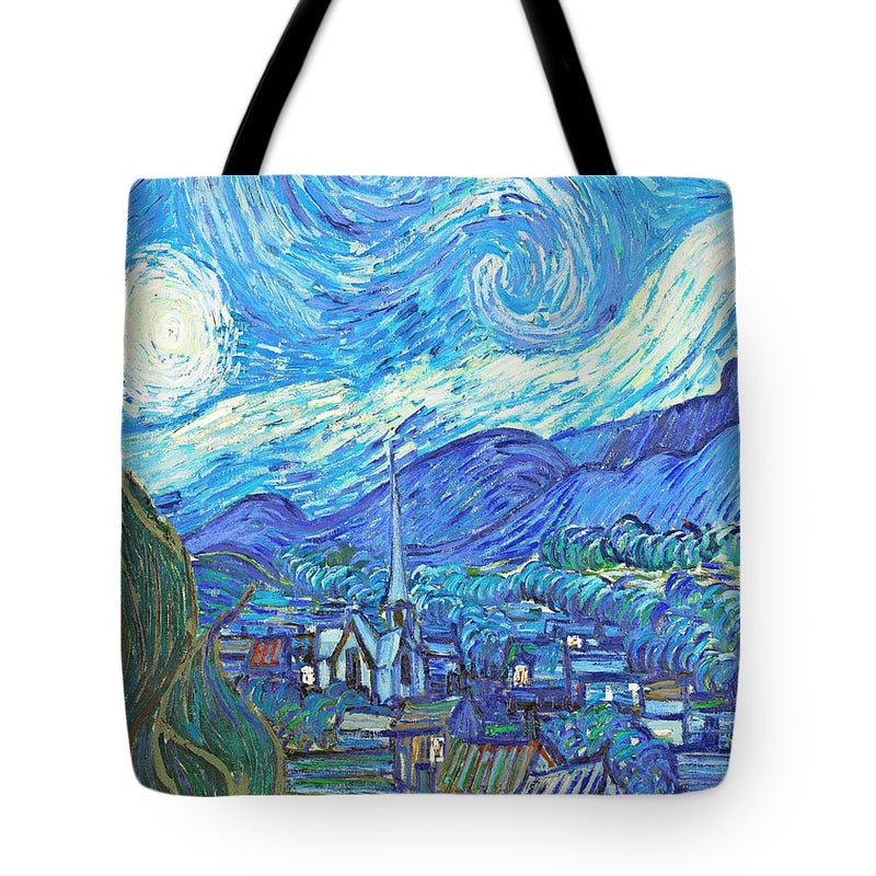 From Starry Night to Mornings Light - Tote Bag