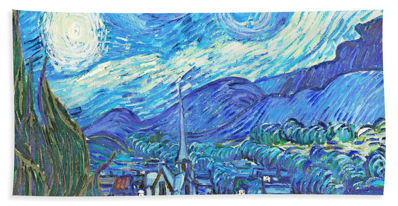 From Starry Night to Mornings Light - Beach Towel