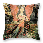 Gathering Flowers - Throw Pillow