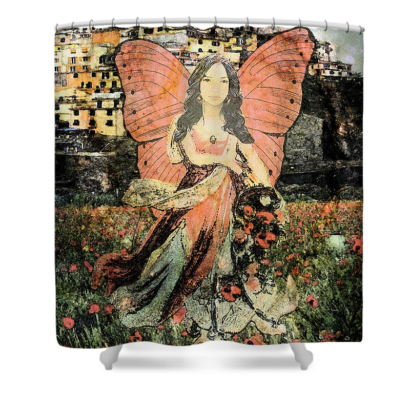 Gathering Flowers - Shower Curtain