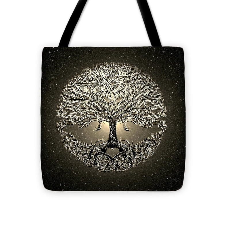 Golden Light Tree of Life - Tote Bag