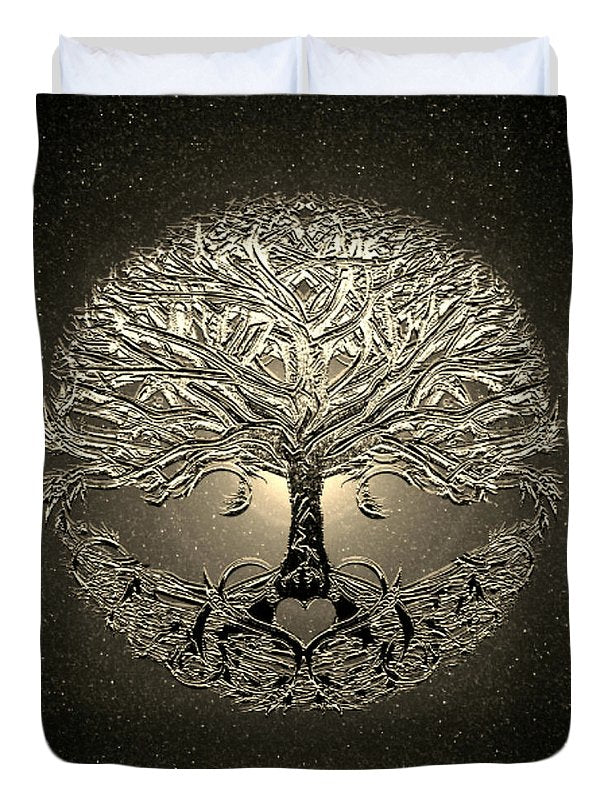 Golden Light Tree of Life - Duvet Cover