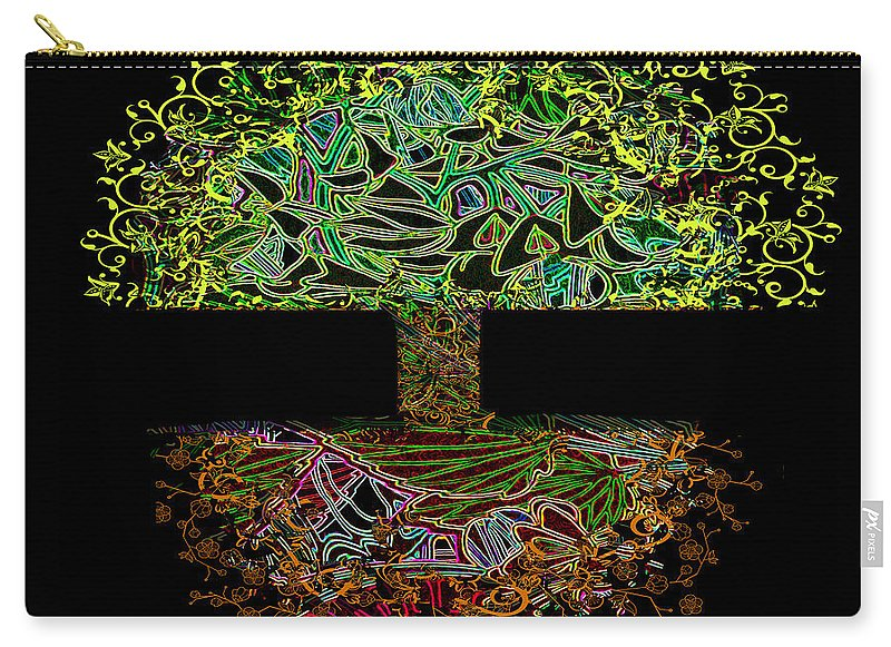Tree of Life in Neon Lights - Carry-All Pouch
