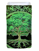 Green Tree of Life - Duvet Cover