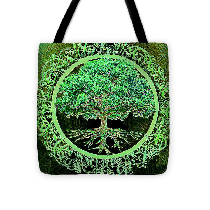 Green Tree of Life - Tote Bag