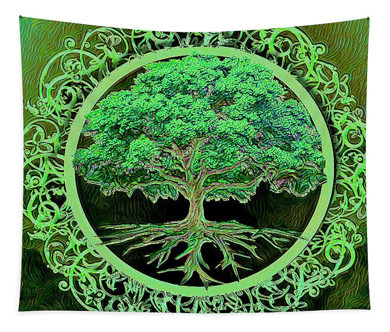Green Tree of Life - Tapestry