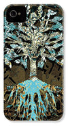 Tree in Teal and Browns - Phone Case