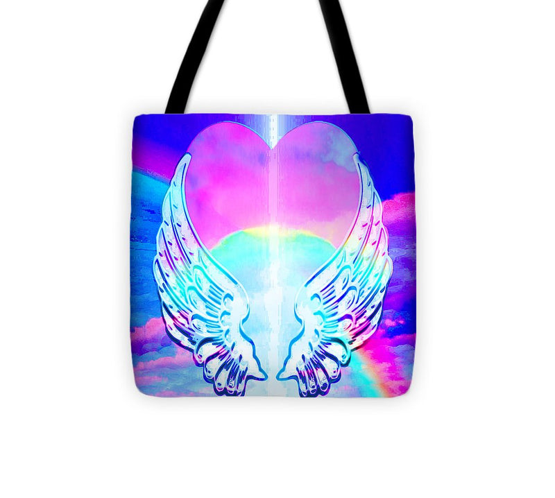 Heart and Angel Wings - Tote Bag
