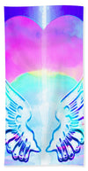 Heart and Angel Wings - Beach Towel
