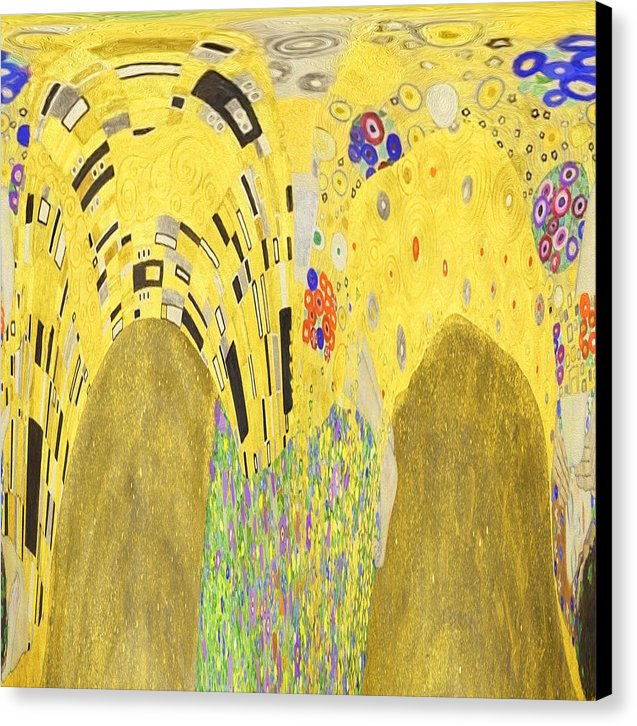 Abstract Homage to Klimt - Canvas Print