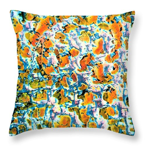 Hot Pepper Surprise Abstract - Throw Pillow