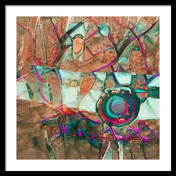Lens of Life Abstract - Framed Print