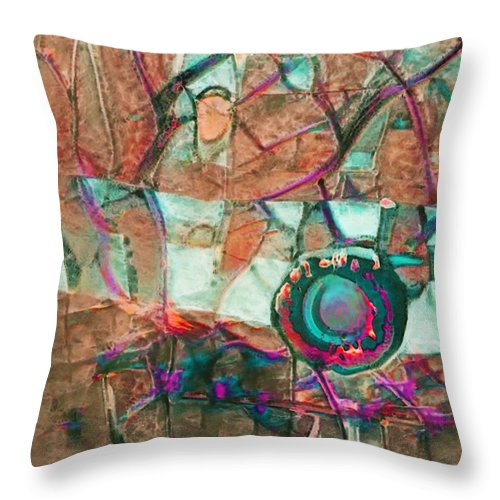 Lens of Life Abstract - Throw Pillow