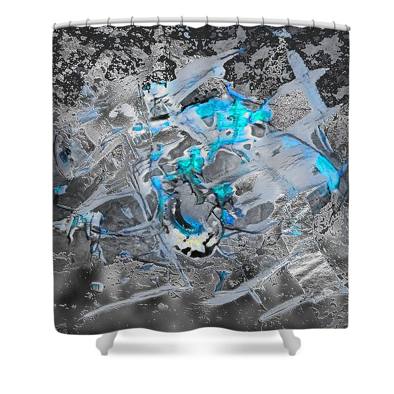 Mining for Love Abstract - Shower Curtain