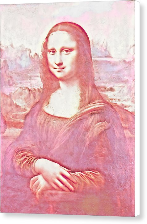 Mona Lisa Watercolor Version - Canvas Print