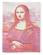 Mona Lisa Watercolor Version - Blanket