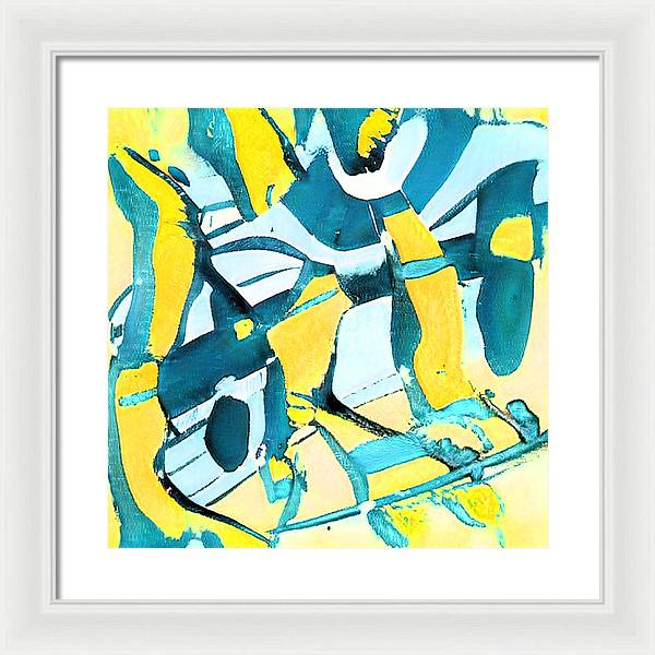 Morning Sky Abstract - Framed Print