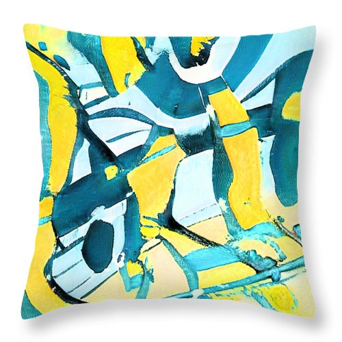 Morning Sky Abstract - Throw Pillow