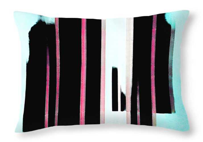 Night and Dad Abstract - Throw Pillow