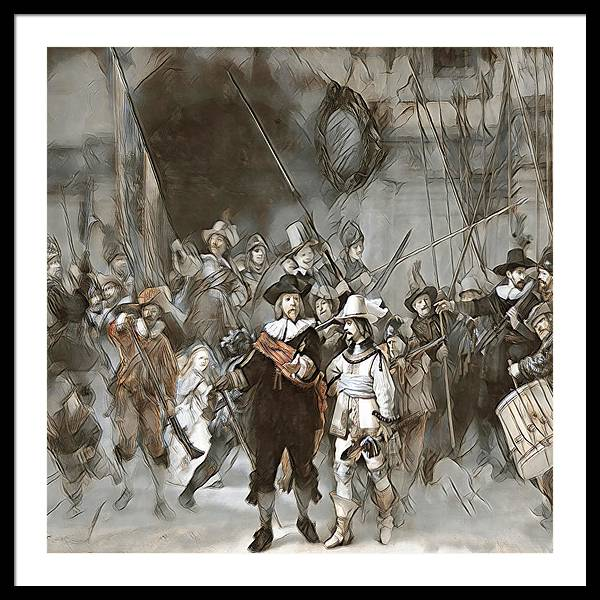 Night Watch Updated - Framed Print