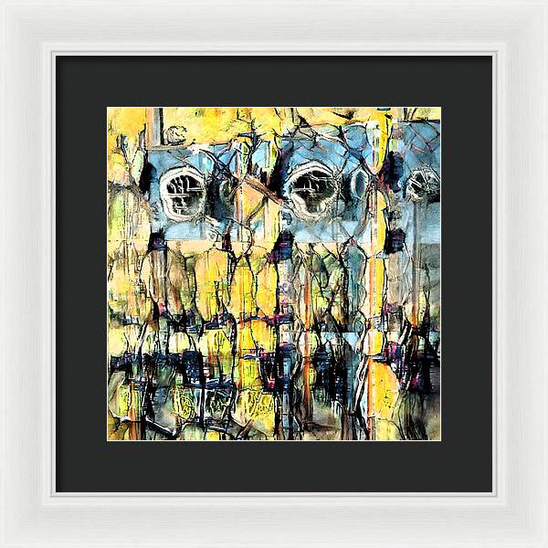 On Vacation Abstract - Framed Print