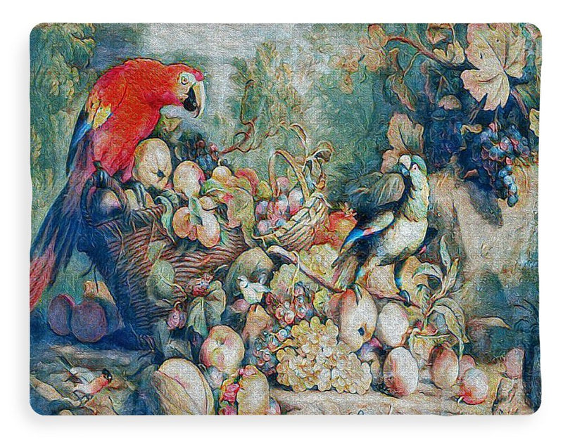 Parrots and Fruit Updated - Blanket