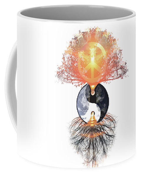 Peace on Earth Yin Yang - Mug