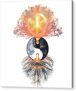 Peace on Earth Yin Yang - Acrylic Print