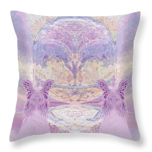Pink Angels - Throw Pillow