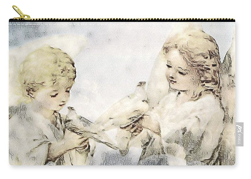 Two Cherubs with Doves - Carry-All Pouch