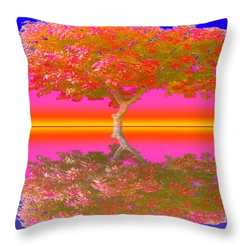 Sunset Tree - Throw Pillow