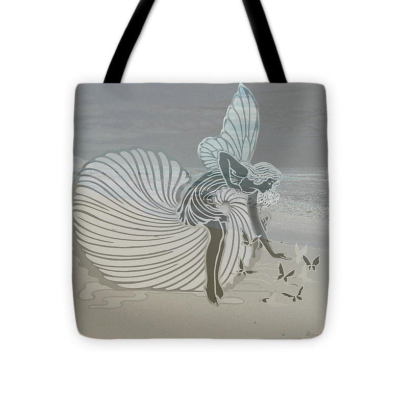 Angel with Butterflies - Tote Bag